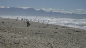 Fishing on Cape Town's Sunrise beach, False Bay, is a livelihood activity for some and recreation for others. Photo: Pippin Anderson
