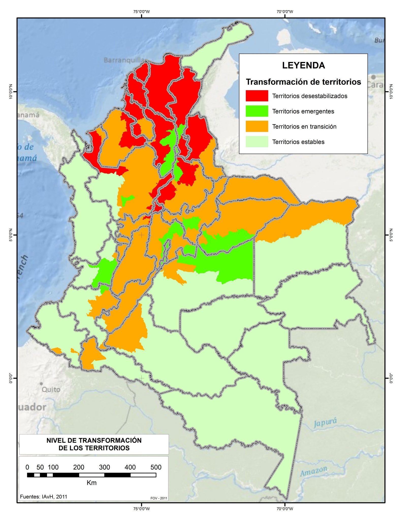 Ecosystem Transformation. Source: Instituto Humboldt 2011