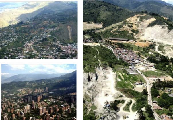 Urban and suburban landscapes in Medellin, Colombia.Source: Medellin Planning Department /2006