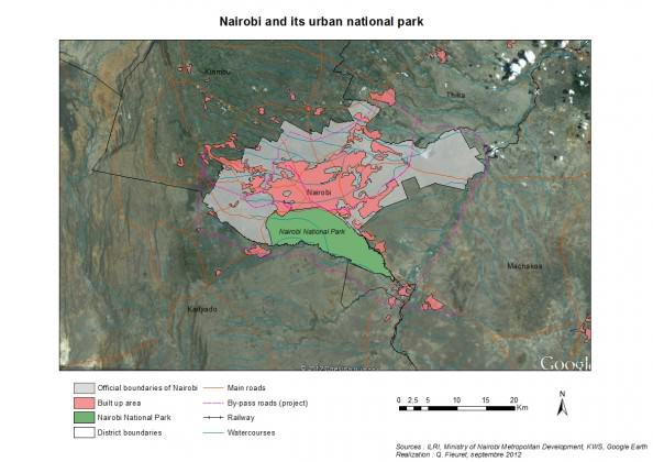 Nairobi and its urban national park, Credit: Quentin Fleuret, 2012