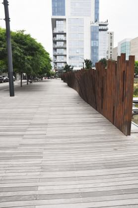 Ipe wood boardwalk