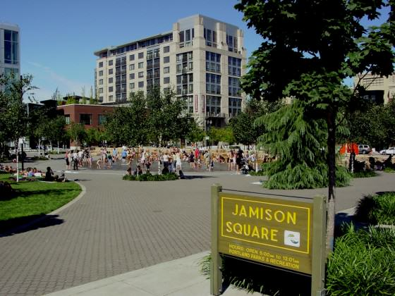 Jamison Square Entrance. Photo: Mike Houck