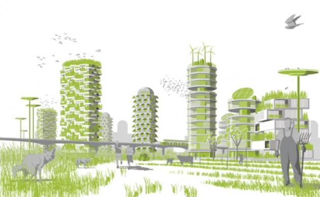 """Sostenibili distopie"", Stefano Boeri. The Boeri's sustainable city; a Nature-city. http://relationalthought.wordpress.com/2012/01/24/440/"