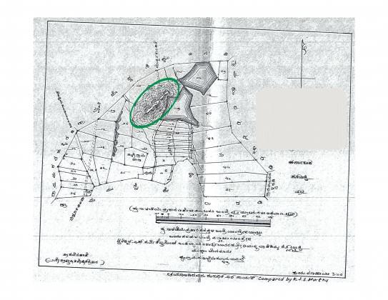 "A map of lake ""X""."