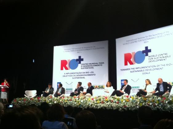 Rio+ Lançamento do Centro Mundial para o Desenvolvimento Sustentável – Rio+ no dia 24 de junho no Rio de Janeiro. Crédito: Cecilia Herzog