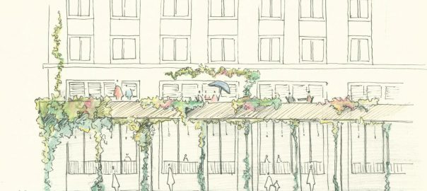 Fig 14. Urban Portico Section. Credit: Wendy Van Kessel