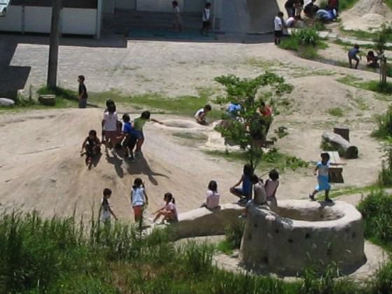 Children play in the school biotope. 2005. Photo: K. Ito