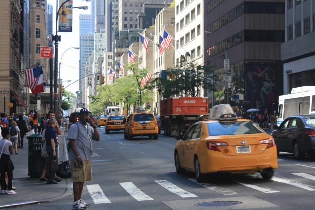 "Midtown Manhattan on 5th Avenue at 53rd St, on a ""quiet"" Saturday afternoon. Photo: David Maddox"