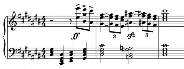 'The most sickening chord in all opera' at the end of Strauss's Salome (marked sfz)