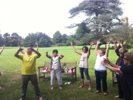 Laughter Yoga with Council of the Aging. Photo: Parks Victoria