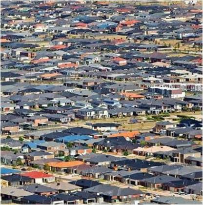A newly developing suburb in Melbourne's outer west. Photo Credit: Parks Victoria