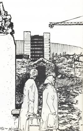 Obliterating sense of place in Swansea, Wales 1977. Drawing: Paul Downton