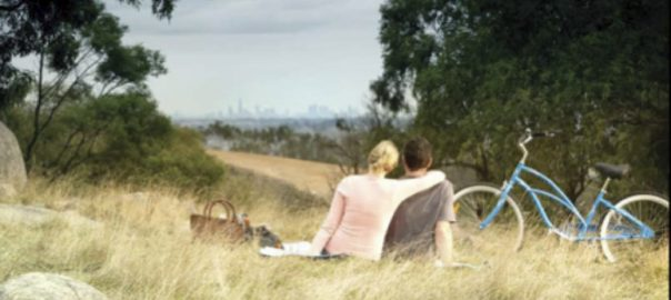 View from an urban park with Melbourne in the background. Photo: Parks Victoria