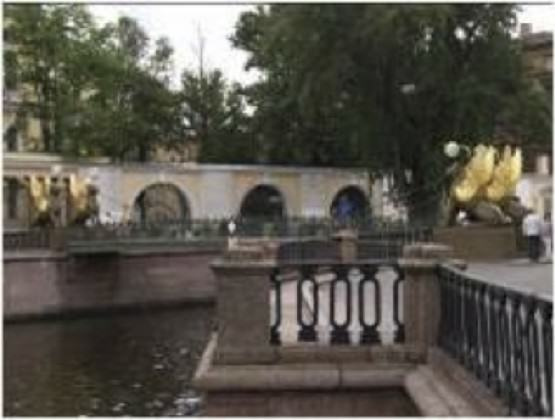 Granite embankment of St. Petersburg is the part of St. Petersburg Heritage Site
