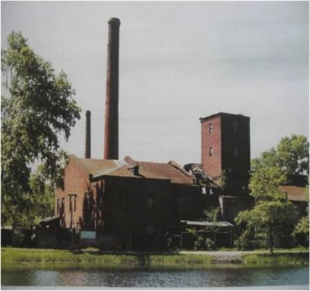 The formal cable factory of Edwards and Kavos in the surrounding park