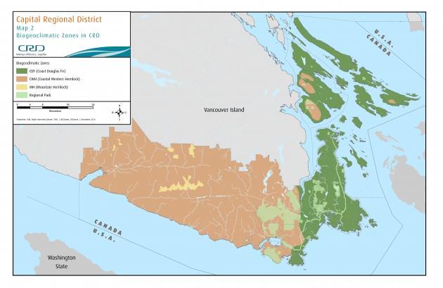 Biogeoclimatic Zones in the CRD