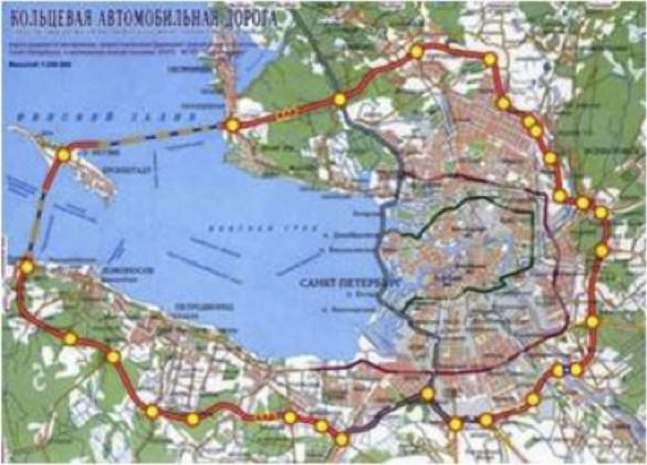 Map of St. Petersburg