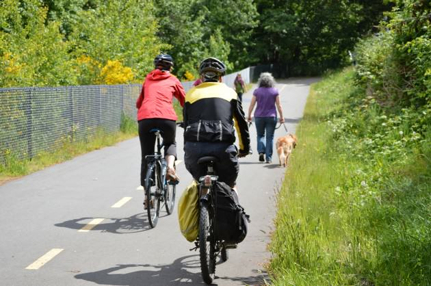 A section of the new E&N Rail Trail in the Capital Regional District.  Photo CRD Image Library.