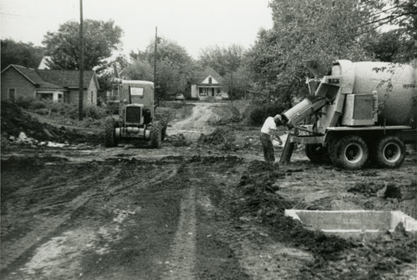 "Urban renewal in Columbia's ""Negro District."" Source: Vox Magazine / State Historical Society of Missouri http://www.voxmagazine.com/media/img/photos/2012/11/5.jpg"