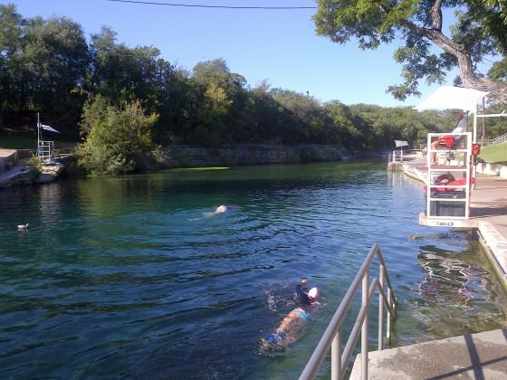 Barton Springs Pool (Barton Creek) in Austin, Texas. Photo: Adrian Benepe