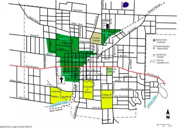 Location of Jindrich Negro Neighborhoods  Source: Jason Jindrich http://jindrichyanes.net/Jindrich_Thesis.pdf