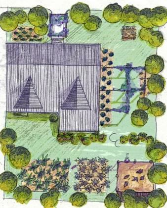 Kyanja Edible Landscape, Plot level planning, Kampala City Council, 2006