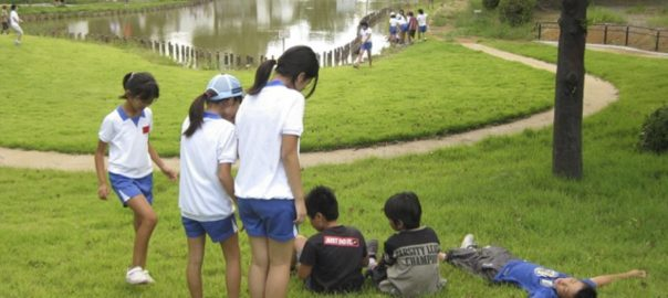 Children playing in the project site. Photo: Keitaro Ito