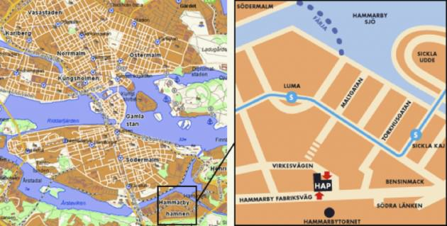 Stockholm. Location of Hammarby