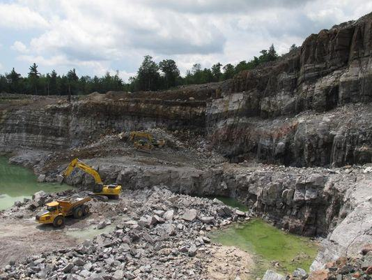 Existing NYCO Minerals wollastonite ore mine. Photo: Mary Esch