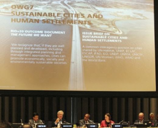The OWG 7th session at UN NYC on Sustainable Cities 6 January 2014
