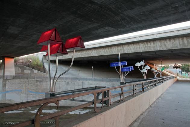 Robin Lasser's public artwork brings urban awareness to ecological ideas. Photo courtesy of the artist