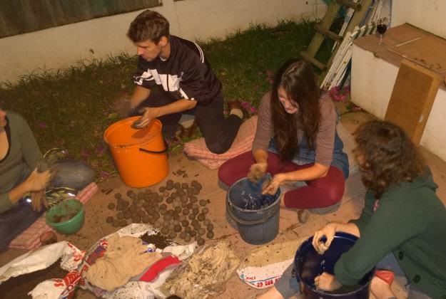 making seed bombs III