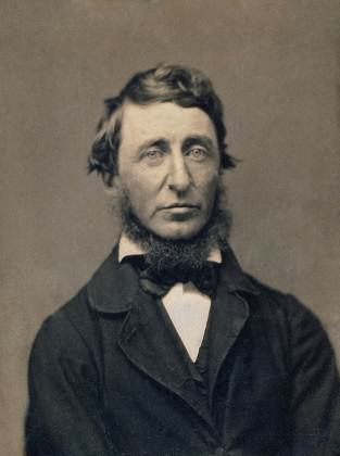 Henry David Thoreau – proto eco-hipster?  Credit:  Benjamin D. Maxham in the National Portrait Gallery, Washington, from Wikipedia.