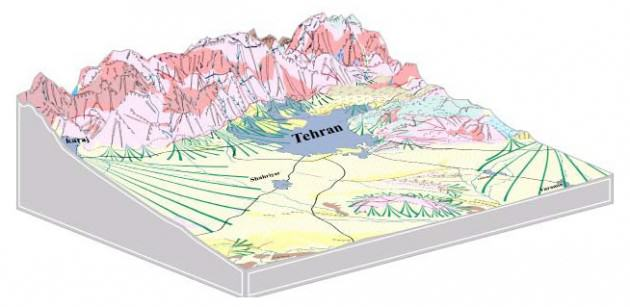 Geomorphology of Tehran. Source: atlas.tehran.ir