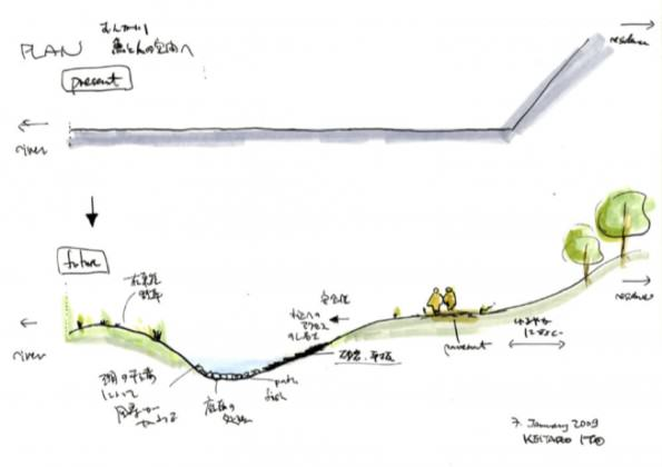 First sketch of the project, 2009. Credit: Keitaro ITO