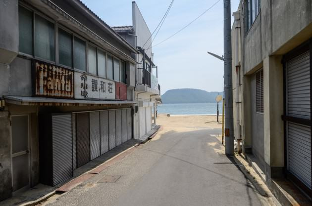 The center of the 'beachfront' district on Megijima. Photo: Patrick M. Lydon