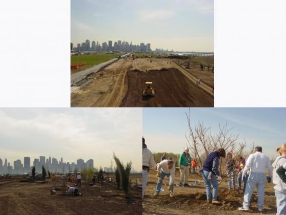Liberty State Park planting day in 2003. Credit: Living Memorials Project National Registry.