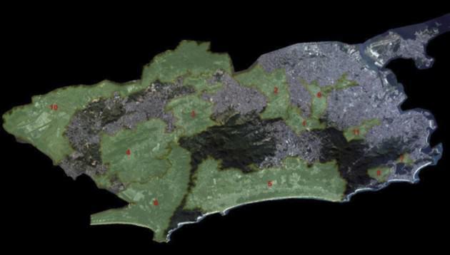 Priority  areas  for  green  corridors  implantation.  Secretaria  do  Meio  Ambiente  da  Cidade.  Prefeitura Municipal do Rio de Janeiro