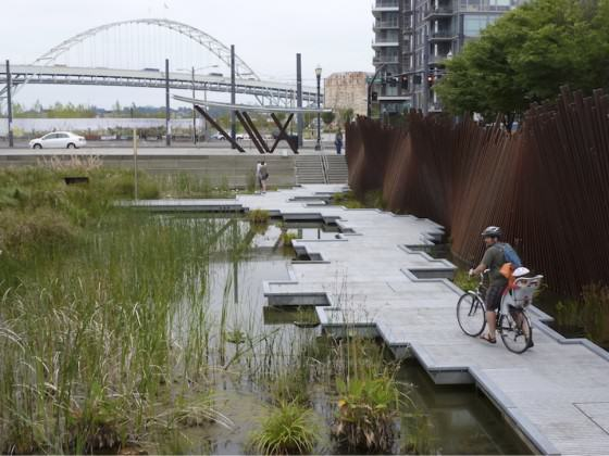 Green infrastructure for stormwater management that includes opportunities for sacred experiences. Photo: Kathleen Wolf