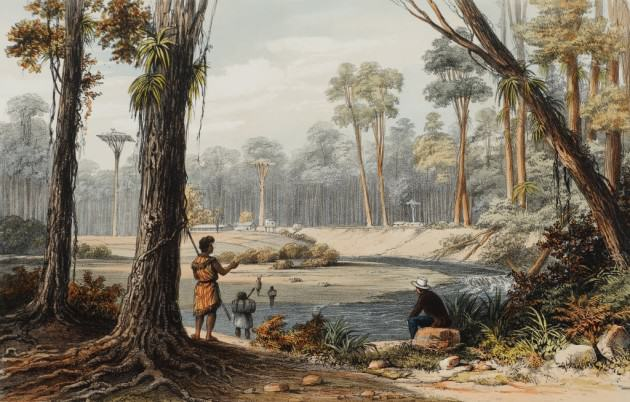 Augustus Earle, Distant View of the Bay of Islands, New Zealand, ca 1826-27, courtesy of National Library of Australia.
