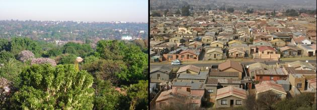 Two-faced City, views of Sandton (LEFT) and Soweto (RIGHT)