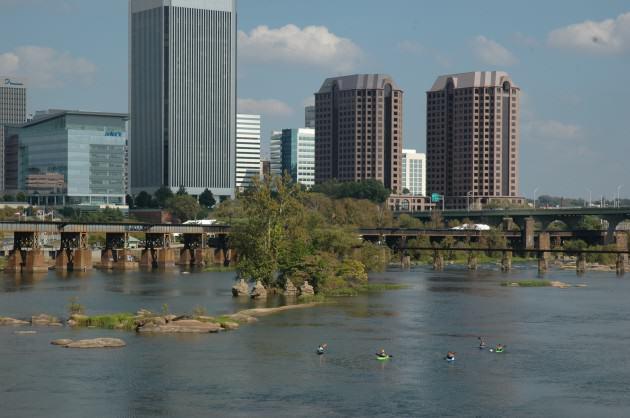 The James River, Richmond, Virginia, USA. Photo: Tim Beatley