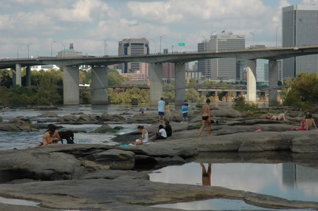 The James River, Richmond, Virginia, USA. Photo: Tim Beatley