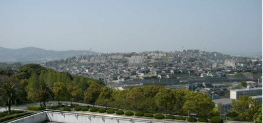 One of urban landscape in Japan (Kitakyushu-city)