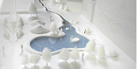 1/100 model of the project. Credit: Keitaro ITO lab