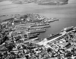 Hobart's port in its heyday.