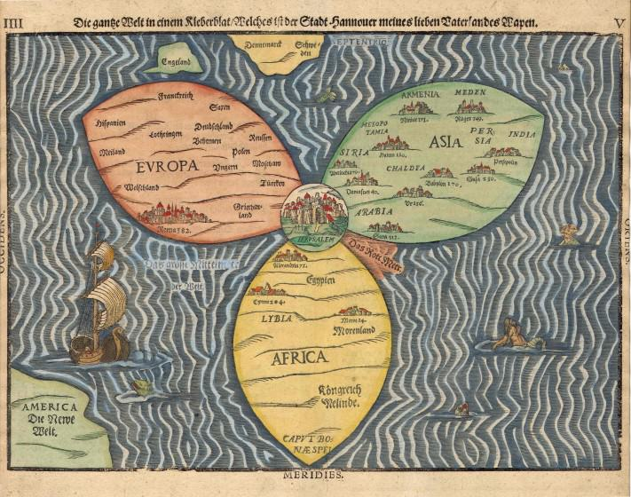 The original Bunting Clover Map of Jerusalem