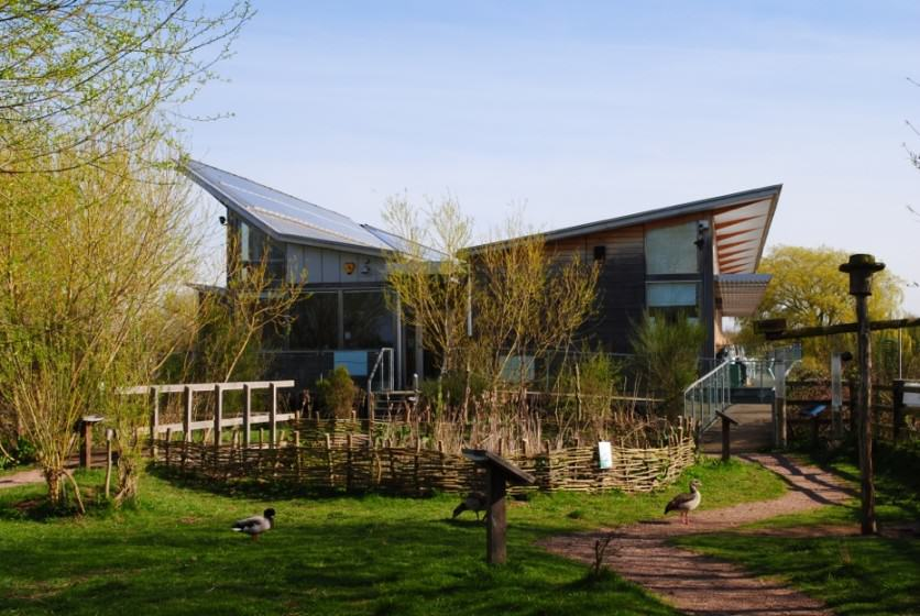 Attenborough Lakes, Nottingham: the Award winning Nature Centre. Photo: Nottinghamshire Wildlife Trust
