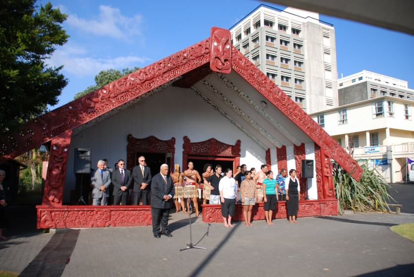 Powhiri at Auckland University. Photo:: Kathrin Marks