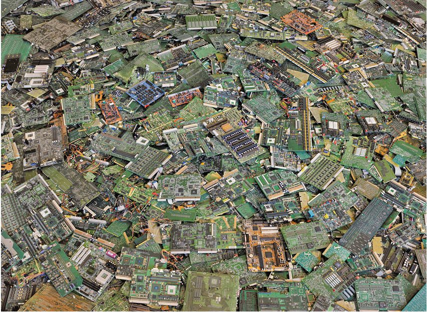 "Circuit boards #2, New Orleans 2005 44 x 57"". By (copyright) Chris Jordan"